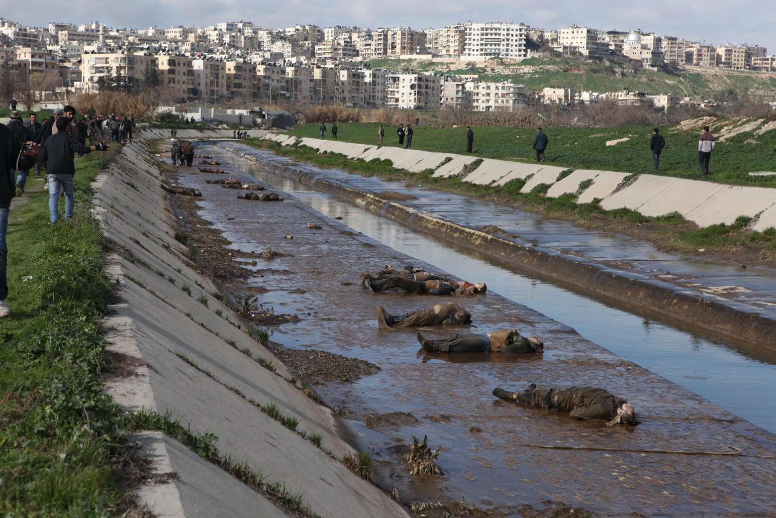 Syria: the story behind one of the most shocking images of the war Why did the bodies of 110 men suddenly wash up in the river running through Aleppo city six weeks ago? A Guardian investigation found out