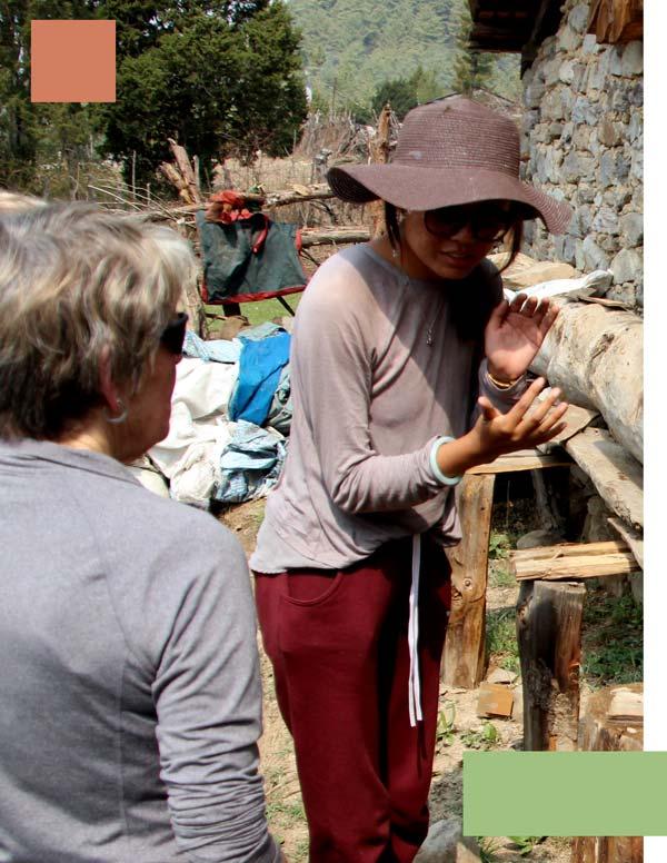 Dolma talking about beekeeing