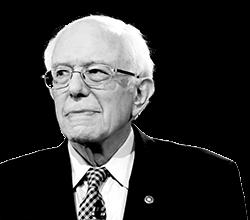 Sanders is leading