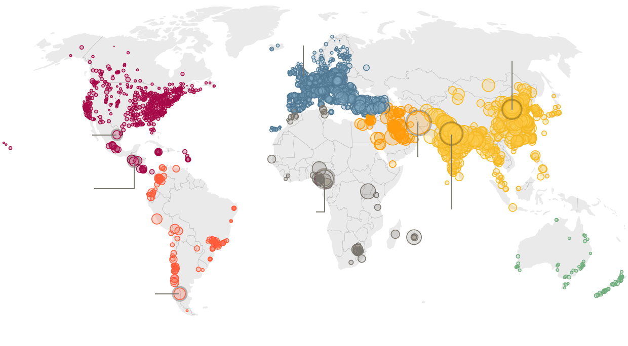 Air Pollution Rising At An Alarming Rate In Worlds Cities - Cities us by growth rate map